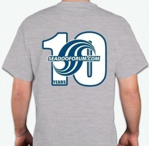 Sea-Doo Forum 10th Anniversay Tshirt