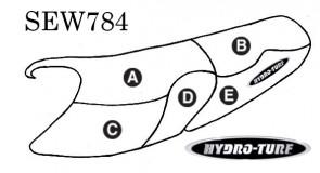 Hydro Turf Yamaha XL1200 Limited (99-00) / XL800 (00-01) Seat Cover