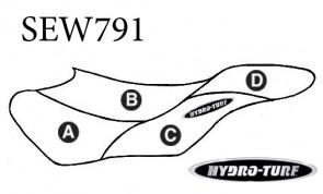 Hydro Turf GP800R (01-02) / GP1200R (00-02) Seat Cover