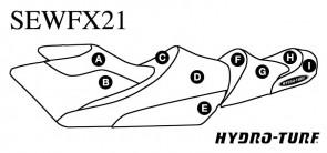 Hydro Turf Yamaha FX Cruiser HO + SHO (12-13) Seat Cover