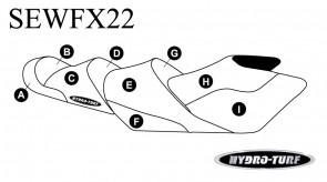 Yamaha FX Cruiser HO (14-18) / FX Cruiser SHO (14-16) / FX Cruiser SVHO + Ltd (14-18) Hydro Turf Seat Cover