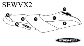 Yamaha VX, VXS, VX Deluxe (15-16) Hydro-Turf Seat Cover
