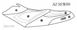 Hydro Turf Premier Sea-Doo RXP / 215 (04-08) Seat Cover