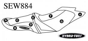 Hydro Turf GTS, GTI (11-17) / Wake 155 (12-17) Seat Cover